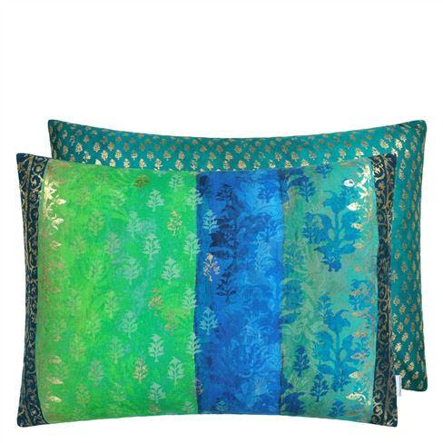 Designers Guild Cushion Kasavu Emerald