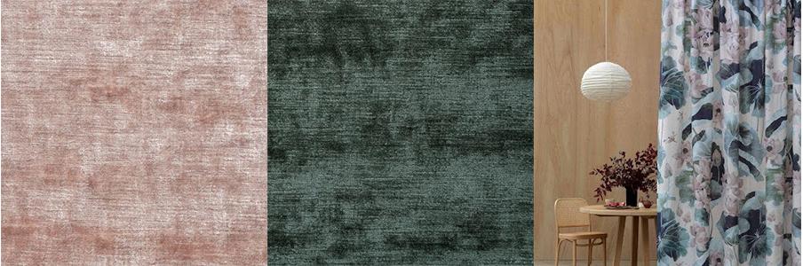 Mokum Bespoke velvet & lotus fabric