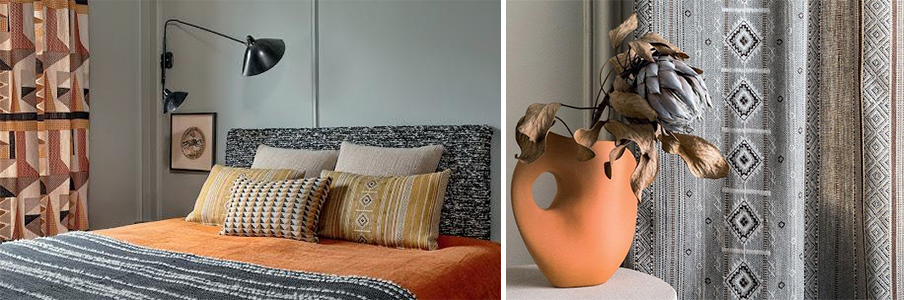 warm colour example from Elitis Escale collection