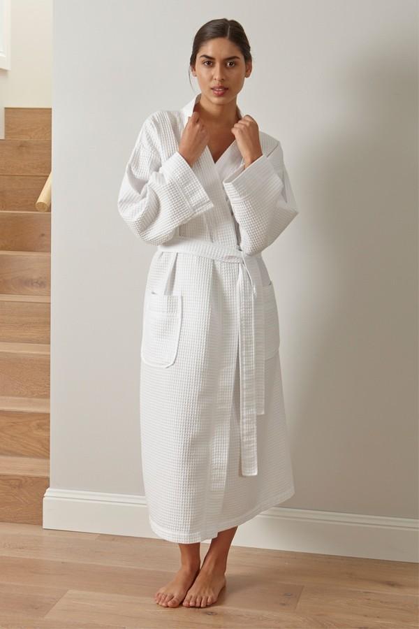 Baksana Waffle Kimono Robe