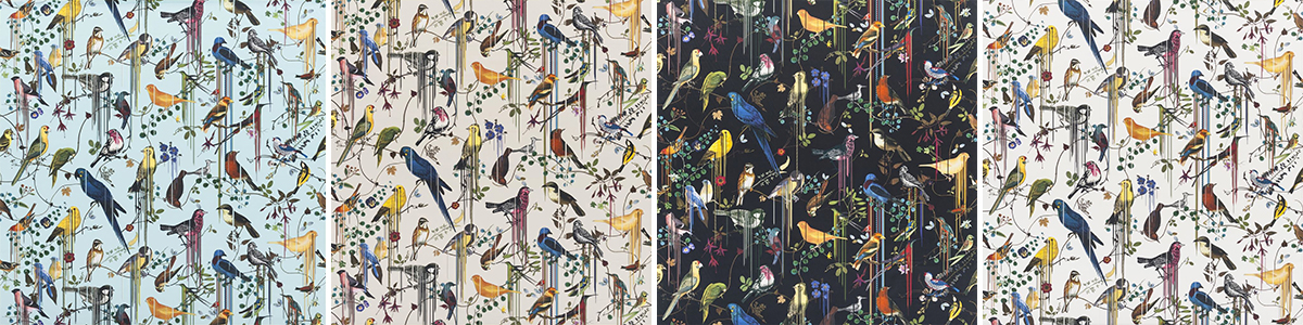 Christian Lacroix Fabric Birds Sinfonia