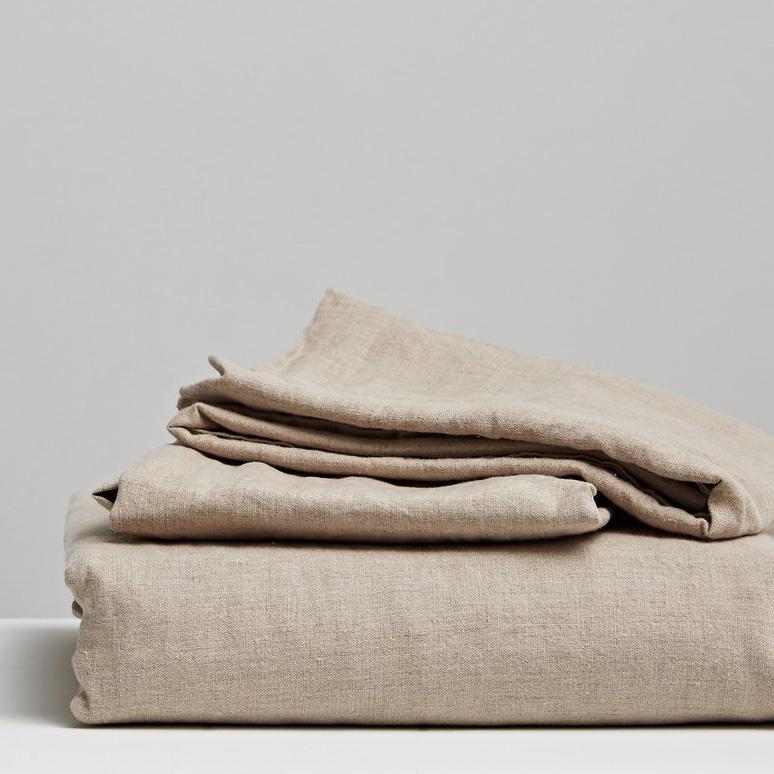 Seneca Vida Stone Washed Linen Sheets